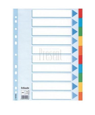 Разделитель картонный, ф.А4, 10 цветов коллекторы дизайнсталь гидравлический разделитель гртк 100 100 40 195 квт