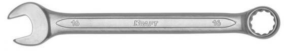 Ключ комбинированный KRAFT КТ 700510 (16 мм) хром-ванадиевая сталь (Cr-V)