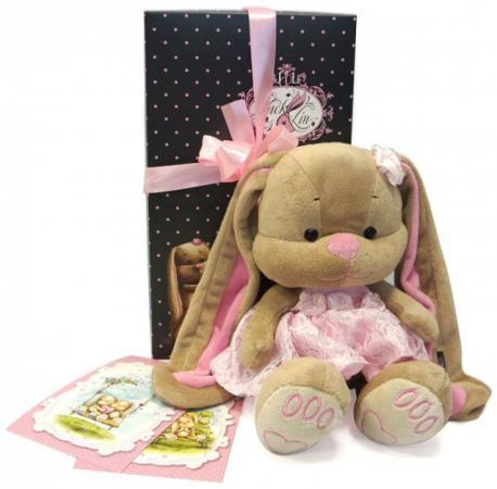 Мягкая игрушка зайка в розовом платье Jack Lin JL-002-25-КСО 25 см недорго, оригинальная цена
