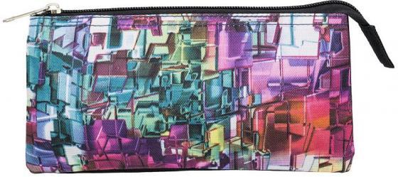 Пенал-косметичка, 3 отд., 2 молнии, без наполнения, размер 21х11 см блесна daiwa silver creek adm 2 2g chart gun metal 16532 702ru