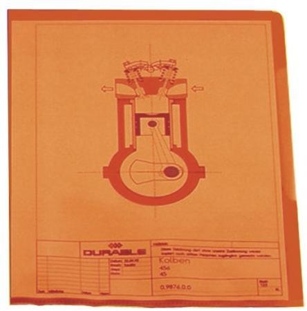 Папка-уголок DURABLE, толщина пластика 0.15 мм, выемка для пальца, красная, цена за 1 шт лента репсовая 10 мм красная цена за 1 м