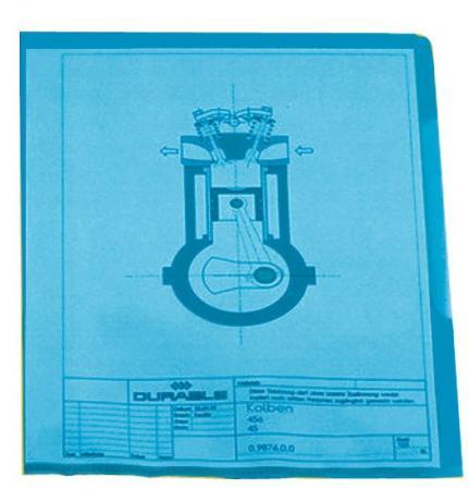 Папка-уголок DURABLE, толщина пластика 0.15 мм, выемка для пальца, синяя, цена за 1 шт плитка напольная березакерамика елена 300х300х8 мм синяя 15 шт 1 35 кв м