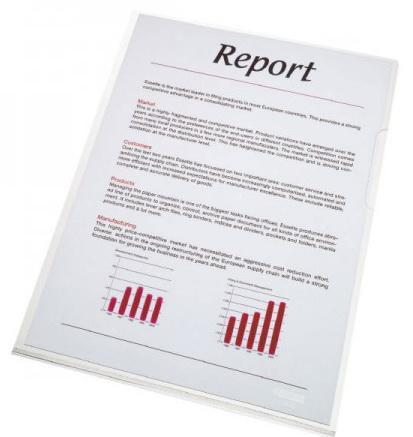 Папка- уголок ESSELTE 150 мкм, глянцевые прозрачные, цена за штуку диакнеаль авен цена