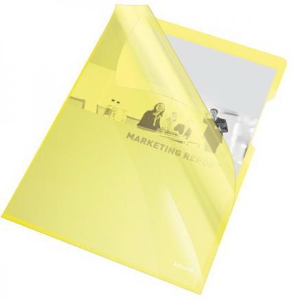 Папка- уголок ESSELTE 150 мкм, глянцевые желтые, цена за штуку диакнеаль авен цена