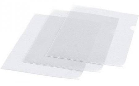 Папка-уголок, ф. А4, прозрачная, материал ПВХ, плотность 200 мкр., цена за 1 шт.