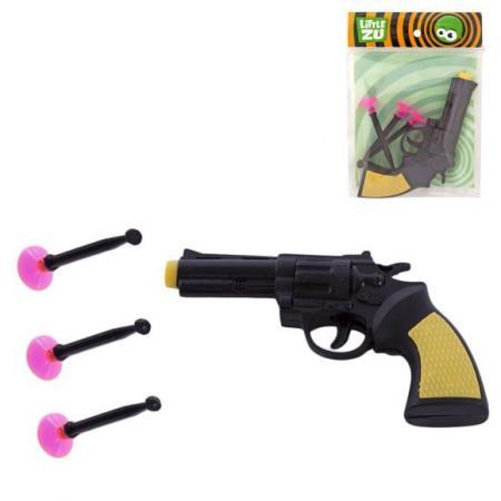 Пистолет Little Zu Пистолет с присосками черный бежевый 90036A