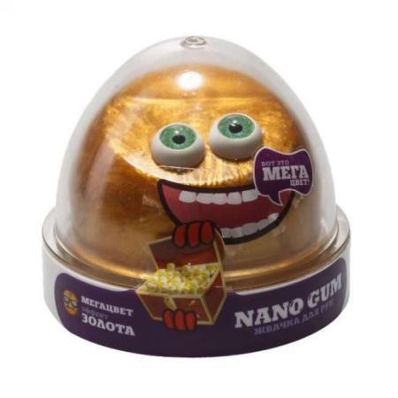 Купить Жвачка для рук жвачка для рук NanoGum Жвачка для рук золотой металлик полимер, Интерактивные мягкие игрушки