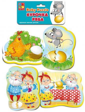 Пазлы Мягкие Baby puzzle Сказки Курочка ряба пазлы vladi toys мягкие магнитные пазлы в стакане крош