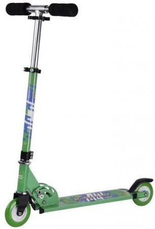 Самокат двухколёсный X-Match City Line 100 мм зеленый 641093 стоимость