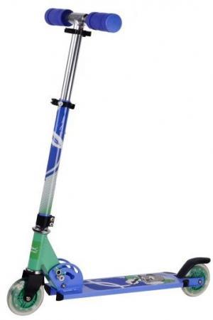 Самокат двухколёсный X-Match Cool Cat 100 мм синий 641096