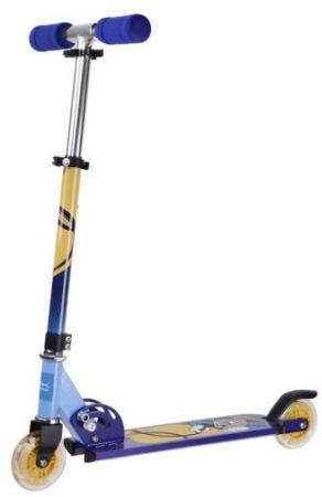 Самокат двухколёсный X-Match Cool Cat 100 мм сине-желтый 641097 цена и фото