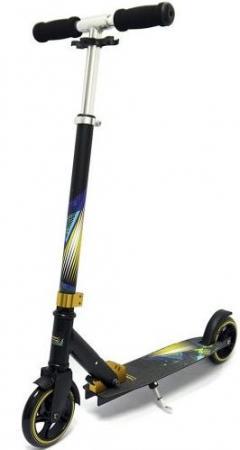 Самокат двухколёсный X-Match Galaxy 145 мм черно-желтый 641138 самокат x match city line 100 мм зеленый 641093