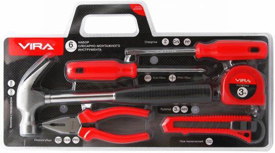 Набор инструментов VIRA 305083 слесарно-монтажного 6предметов зажим vira 311035