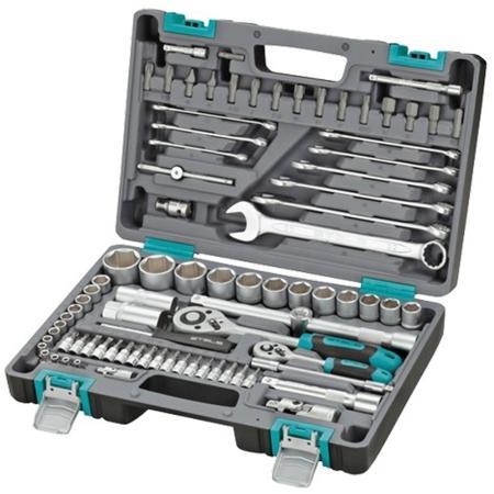 Набор инструментов STELS 14105 1/2 1/4 CrV пластиковый кейс 82 предм. набор инструментов вихрь 1 2 1 4 crv пластиковый кейс 82 предмета