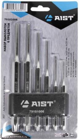 Набор AIST 79101006 выколоток 6 пр. 2-8мм хромированные в держателе бита aist 1327509r