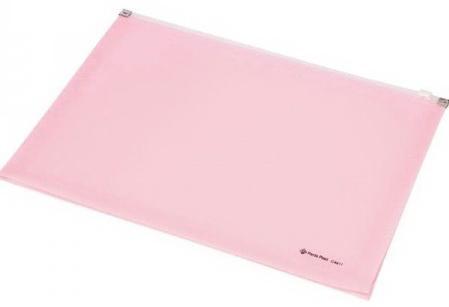 Папка на молнии FOCUS А4, 180 листов, материал PP, розовая папка скоросшиватель focus с большим клипом ф а4 зеленый матер pp вмес 30 листов