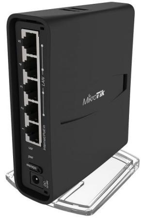 Беспроводной маршрутизатор MikroTik hAP AC2 802.11abgnac 2.4 ГГц 5 ГГц 5xLAN USB черный RBD52G-5HacD2HnD-TC коммутатор mikrotik rbd52g 5hacd2hnd tc