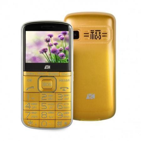 Мобильный телефон ARK Power F1 золотистый 2.4 32 Мб телефон