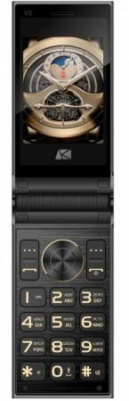 Мобильный телефон ARK Benefit V2 черный раскладной 2Sim 2.8 240x320 0.08Mpix BT GSM900/1800 GSM1900 MP3 FM microSD мобильный телефон ark benefit v1 серый 2 4 64 мб