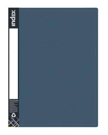 Папка на 2 кольцах METALLIC, форзац, ф.A4, темно-синяя, 0.75мм, 2см папка на 2 кольцах index satin форзац ф a4 серебристая 0 6мм 2см