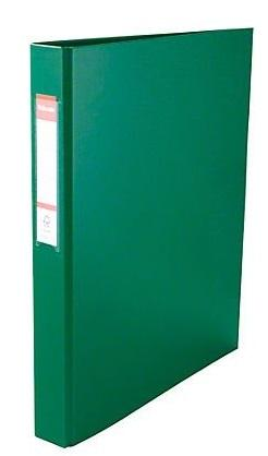 Папка-файл на 2 кольцах, зеленая, PVC, 35 мм, диаметр 20мм