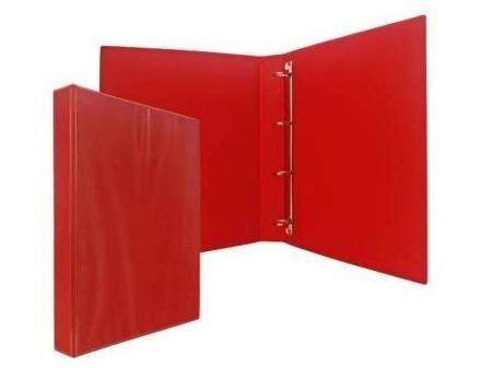 Папка-файл на 2 кольцах, красная, PVC, 35 мм, диаметр 20мм