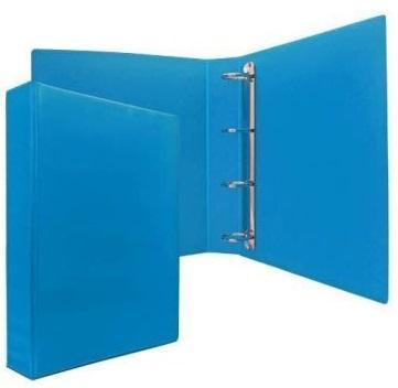 Папка-файл на 4 кольцах, голубая, PVC, 50 мм, диаметр 35мм. цена и фото