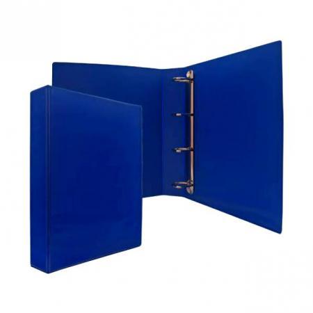 Папка-файл на 4 кольцах, темно-синяя, PVC, 50 мм, диаметр 35мм. цена и фото