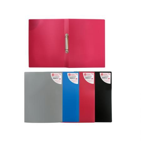 цена Папка на 2 кольцах, ф.А4, ассорти (черная, синяя, красная, серая), 0,4 мм|2 онлайн в 2017 году