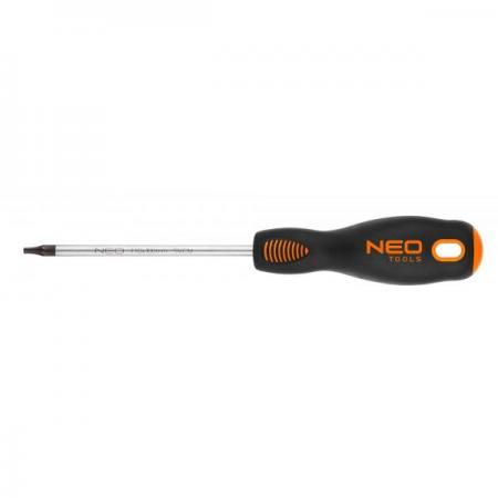 Отвертка NEO 04-043 Torx T10x100мм CrMo шлицевая отвертка neo 6 5x125 мм crmo 04 002