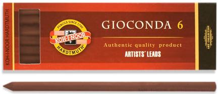 Сепия для цангового карандаша, коричневая, 5,6 мм, 6 шт./уп. сепия для цангового карандаша темно коричневая 5 6 мм 6 шт уп