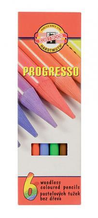 Набор цветных карандашей Koh-i-Noor Progresso 6 шт 153 мм набор карандашей koh i noor progresso 6 штук
