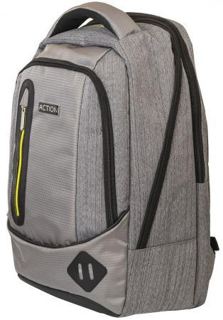 Рюкзак ACTION городской,  отделением для ноутбука, размер 46.5x30.5x17. см, мягкая спинка, унисекс