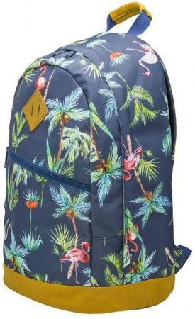 Рюкзак ручка для переноски Action! Пальмы, Фламинго 21 л темно-синий AB11151 цена и фото