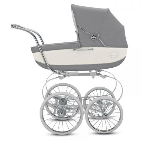 цена на Коляска для новорожденного Inglesina Classica на шасси Balestrino Chrome White (AB05K0JAR + AE05H3100)