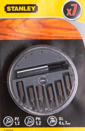Набор бит STANLEY STA60500-XJ PH1,2,SL4.5,7,PZ1,2, держ. 7шт цена