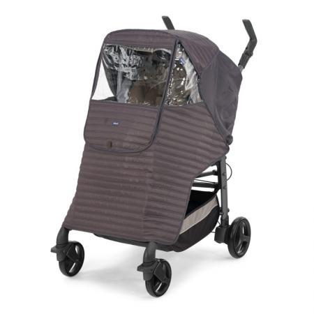 Дождевик-накидка на коляску Chicco (серый)