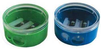 Точилка двойная пластмассовая, круглая форма точилка пластмассовая клиновидная форма 104 01 999