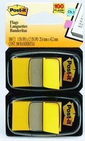 Фото - Закладки-ярлычки POST-IT, на полимерн. основе, желтые, 25ммх43,2 мм, 100 шт. закладки самоклеящиеся post it 282361 100 листов