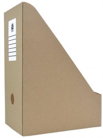 Накопитель архивный, вертикальный, микрогофрокартон, 325 г/кв.м, 227х150х305 мм, бурый недорого