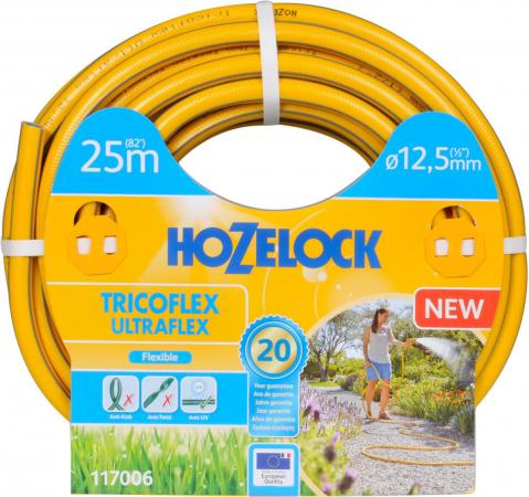 Шланг HOZELOCK 117006 TRICOFLEX ULTRAFLEX 25м 1/2 пвх шланг hozelock 1 25мм 25м super tricoflex 048290