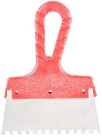 Шпатель зубчатый Hammer Flex 238-029 нерж. сталь 150 мм, 6*6 мм насос hammer flex nc25 6