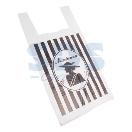 Пакет майка ПНД 30+16*60, 12мкм Марианна (100шт./уп) пакет майка пнд белый хозяйственный