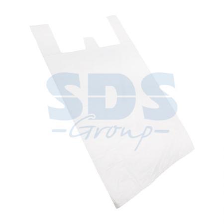 Пакет майка ПНД 30+16*60, 15мкм белая (100шт./уп) пакет майка пнд белый хозяйственный
