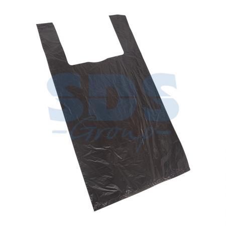 Пакет майка ПНД 30+16*60, 15мкм черная (100шт./уп) пакет майка пнд белый хозяйственный
