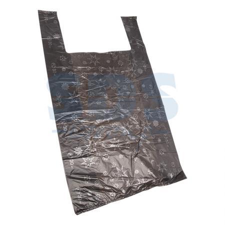 Пакет майка ПНД 38+18*68, 15мкм Звезды (100шт./уп) пакет майка пнд белый хозяйственный