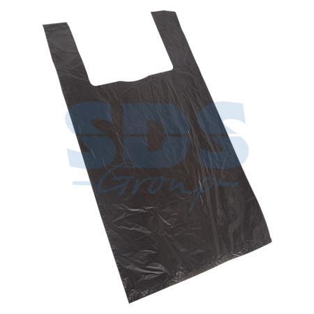 Пакет майка ПНД 42+20*75, 15мкм черная (100шт./уп) пакет майка пнд белый хозяйственный