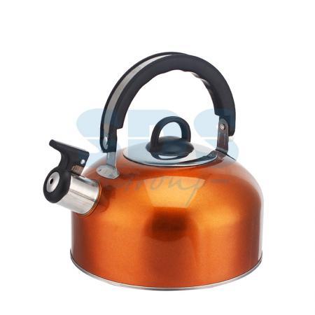 Купить Чайник для плит 2 литра из пищевой нержавеющей стали со свистком., DUX