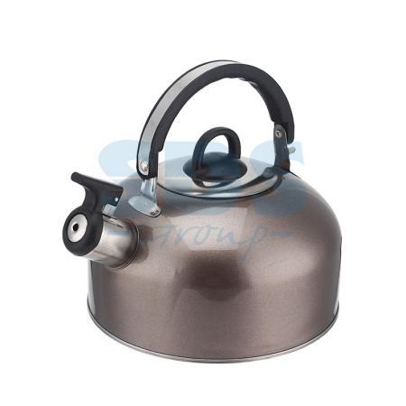 Купить Чайник для плит 2, 5 литра из пищевой нержавеющей стали со свистком., DUX