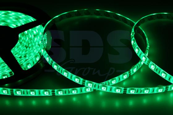 LED лента силикон, 10мм, IP65, SMD 5050, 60 LED/m, 12V, зеленая led strip color changing 5m 5050 rgbw led light strip remote controller 12v 2a power supply rgb white indoor for decoration